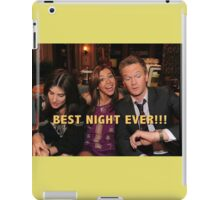 robin, lily and barney (best night ever)  iPad Case/Skin