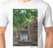 Window with cat Unisex T-Shirt