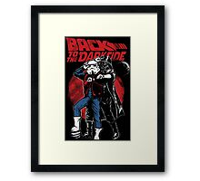 Star Wars & Back to the future - Back to the darkside Framed Print