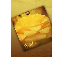 English Rose Yellow Vintage Texture Ornamental Pattern Photographic Print