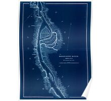 Civil War Maps 1166 Mississippi River from Cairo Ill to St Marys Mo in VI sheets 04 Inverted Poster