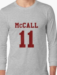 Mccall 11 Scot mccall Beacon Hills lacrosse - maroon ink Long Sleeve T-Shirt