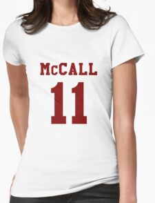 Mccall 11 Scot mccall Beacon Hills lacrosse - maroon ink Womens Fitted T-Shirt