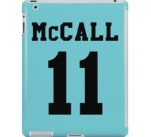 Mccall 11 Scot mccall Beacon Hills lacrosse - black ink iPad Case/Skin