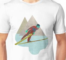 Skijumper with Mountains Unisex T-Shirt