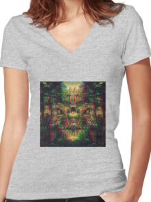 Tripping Trail Women's Fitted V-Neck T-Shirt