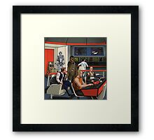 Space Mashup Framed Print