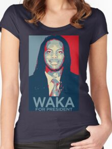 Waka flocka flame for president  (high quality) Women's Fitted Scoop T-Shirt