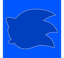 Smash Sonic Icon with outline Photographic Print