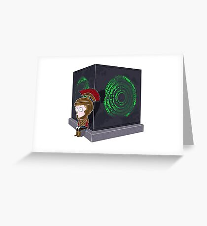 Waiting for a mad girl with red hair Greeting Card