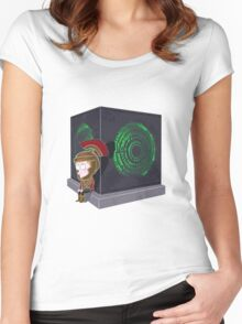 Waiting for a mad girl with red hair Women's Fitted Scoop T-Shirt