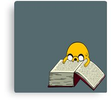 Jake Reading a Giant Book - AdventureTime! Canvas Print