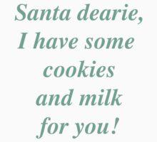 My Thoughts To Santa Kids Tee