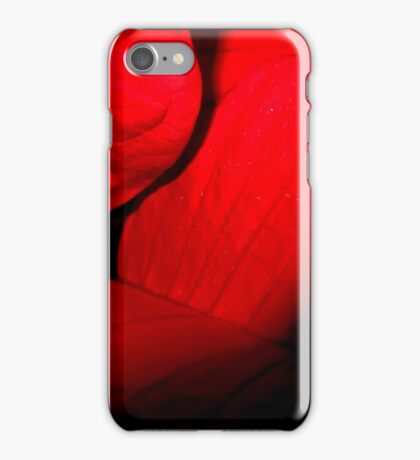 Romantic red leaves iPhone Case/Skin