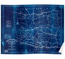 Civil War Maps 0549 Laurens District South Carolina Inverted Poster