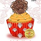Chinese New Year Year Of The Monkey Cupcake With Chocolate Monkey by Moonlake