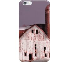 White Barn and Silo iPhone Case/Skin