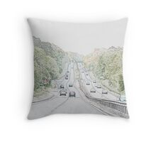 A Road Throw Pillow