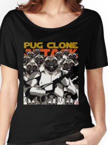 Pug Clone Attack Women's Relaxed Fit T-Shirt
