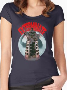Exterminate - Dalek Women's Fitted Scoop T-Shirt