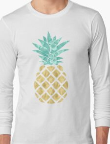 Golden Pineapple Long Sleeve T-Shirt