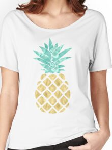 Golden Pineapple Women's Relaxed Fit T-Shirt