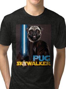 Pug Skywalker Tri-blend T-Shirt