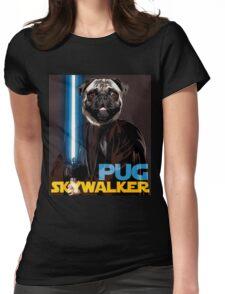 Pug Skywalker Womens Fitted T-Shirt