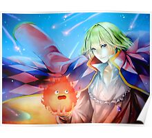 Calcifer and Howl - Howl's Moving Castle Poster