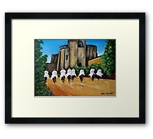 Templar Knights and The Convent of Christ Framed Print