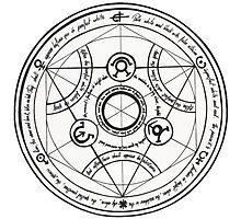 Full Metal Alchemist - Circle of transmutation Photographic Print