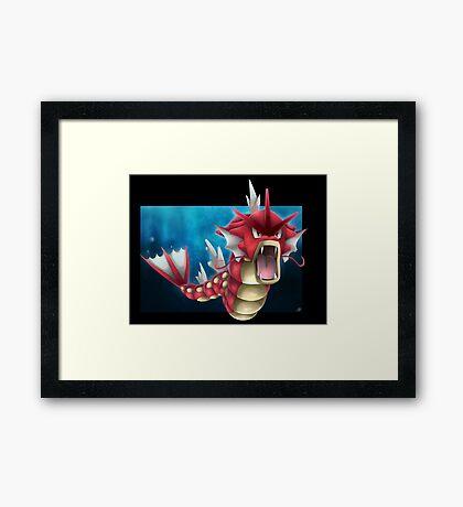 Shiny Gyarados Framed Print