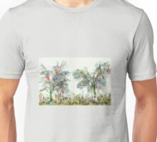 Colorful winter scene Unisex T-Shirt