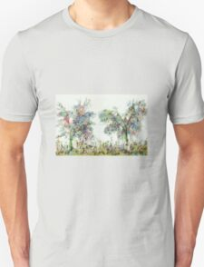 Colorful winter scene T-Shirt