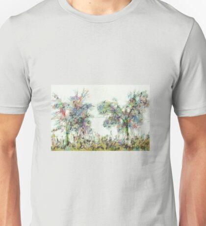 Colorful winter scene Unisex T-Shirt