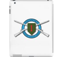 1st Infantry Crossed Muskets iPad Case/Skin