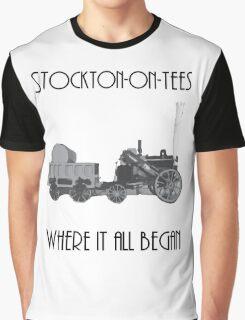 Stockton-on-tees Stephensons rocket Graphic T-Shirt
