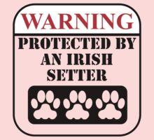 Warning Protected By An Irish Setter One Piece - Long Sleeve