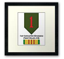 1st Infantry Vietnam Framed Print