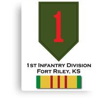 1st Infantry Vietnam Canvas Print