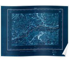 Civil War Maps 1595 Sierre Inverted Poster
