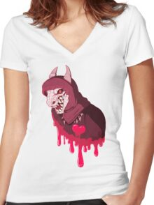 Eat Your Heart Out Women's Fitted V-Neck T-Shirt