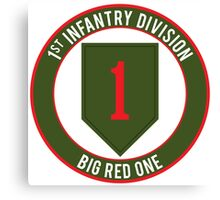 1st Infantry Big Red One Canvas Print