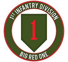1st Infantry Big Red One Photographic Print