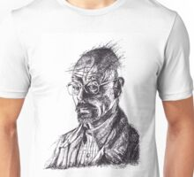 Walter White Breaking Bad Ink Portrait Unisex T-Shirt