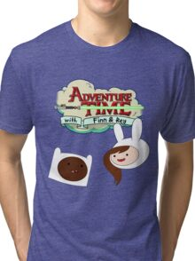 Adventure Time with Finn & Rey Tri-blend T-Shirt