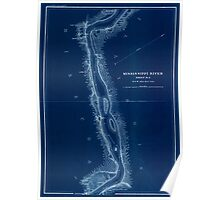 Civil War Maps 1166 Mississippi River from Cairo Ill to St Marys Mo in VI sheets 05 Inverted Poster