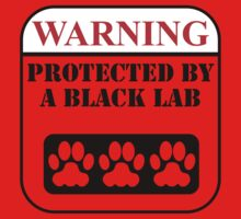 Warning Protected By A Black Lab One Piece - Long Sleeve
