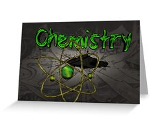 Famous humourous quotes series: Chemistry Graffiti with atom Greeting Card