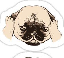 No Evil Pug Sticker
